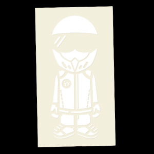 Bathing Stig (White) Decal