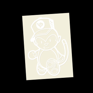 Grease Monkey (White) Decal
