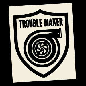 Trouble Maker (Black) Decal