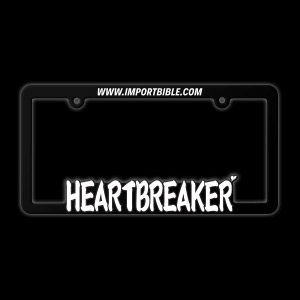 Heartbreaker License plate frame
