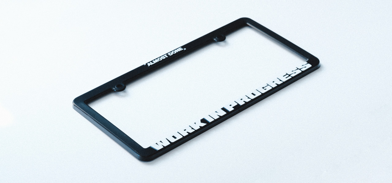 WIP License Plate Frame