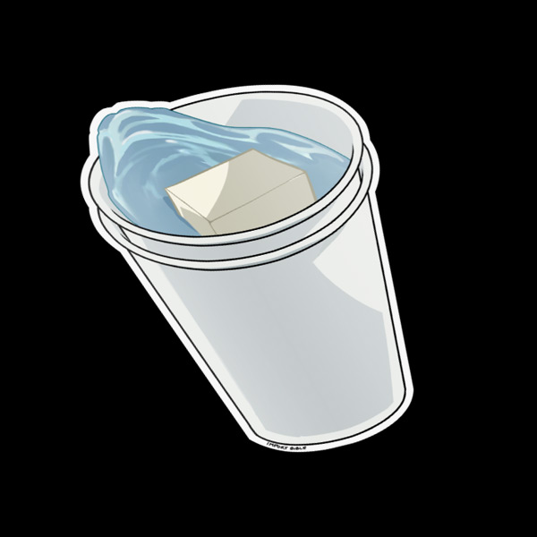 Double Cup Sticker
