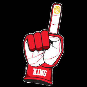 Drift King (Red) Sticker
