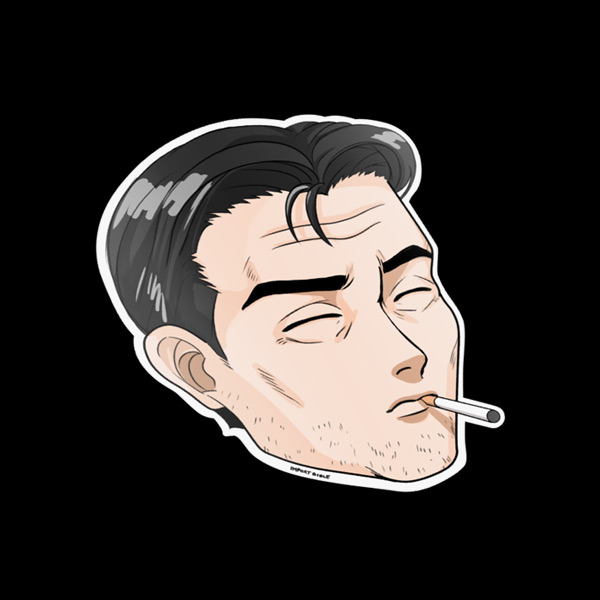 Smoking Bunta Sticker