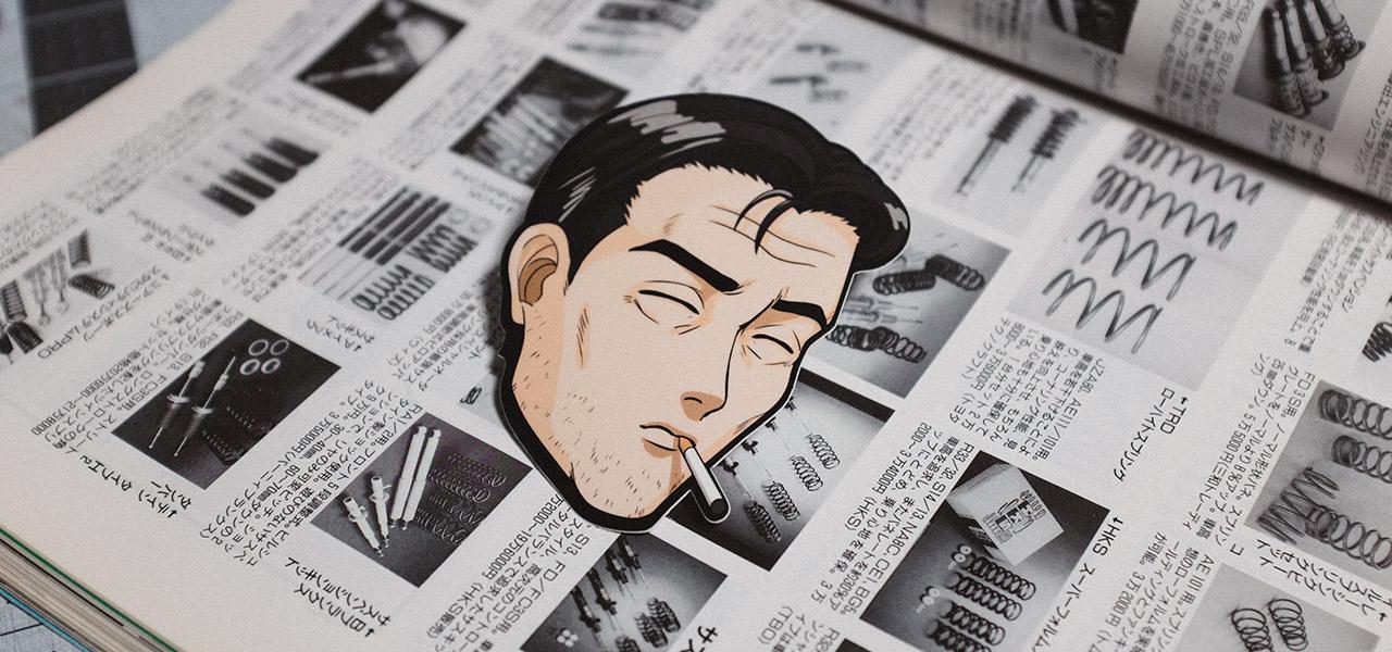 Smoking Bunta Sticker