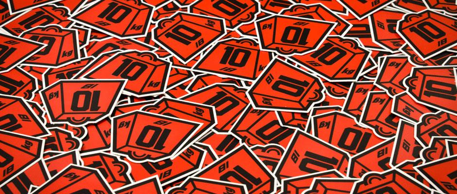 Weights Sticker