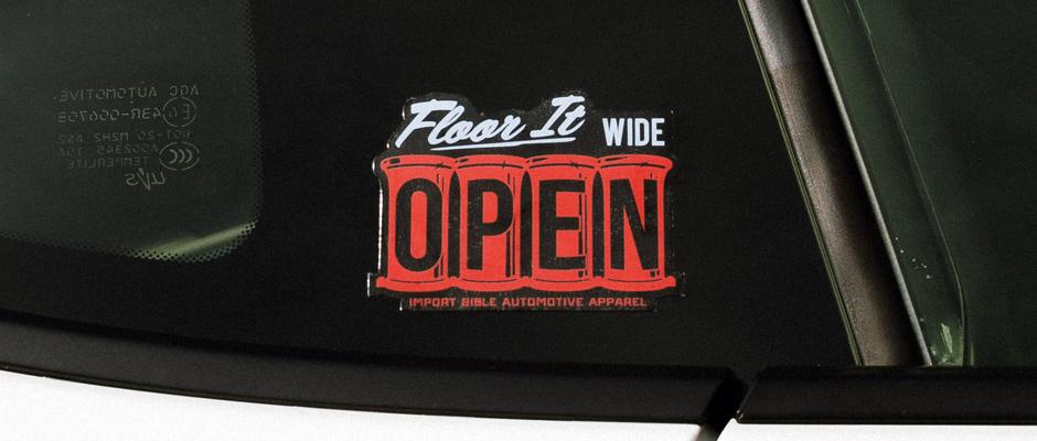 Wide Open Sticker