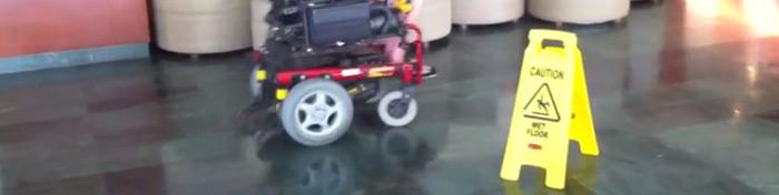 Wheel chair drifting