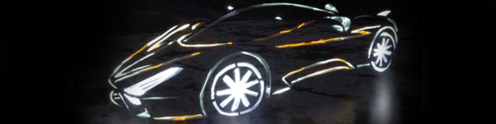 Light painted super cars