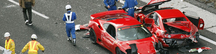 World's most expensive car crash in Japan
