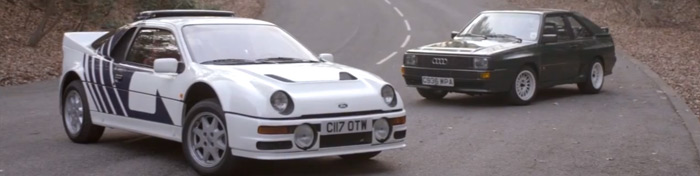 Chris Harris drives the Ford RS200 & Audi Sport Quattro