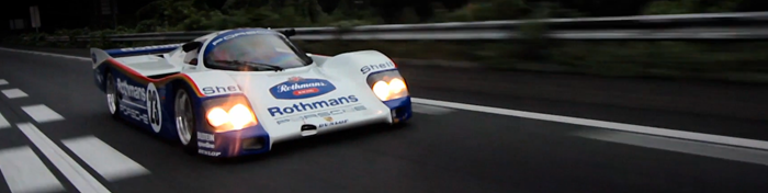 Porsche 962 in the streets of Japan