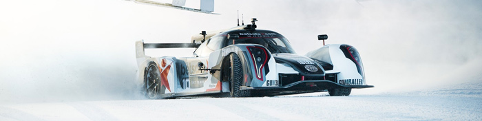 Jon Olsson's uphill snow drift