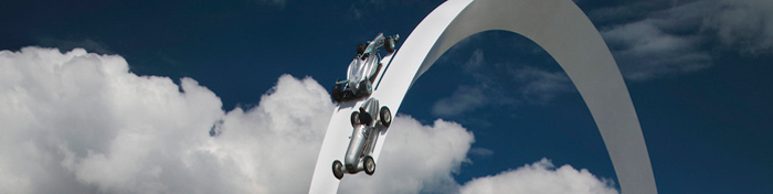 Mercedes Benz Sculpture at Goodwood Festival of Speed